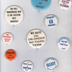HISTORICAL POLITICAL BUTTONS - ANTI ROOSEVELT, GOLDWATER-JOHNSON, NIXON,IKE, ETC