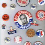 HISTORICAL POLITICAL BUTTONS - ANTI ROOSEVELT, GOLDWATER-JOHNSON, NIXON,IKE, ETC