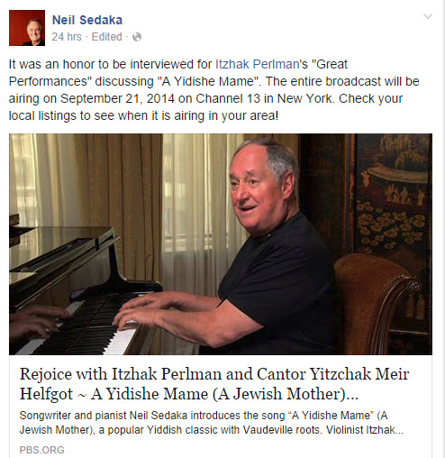 my yideshe momma intro for PBS special with yitzhak