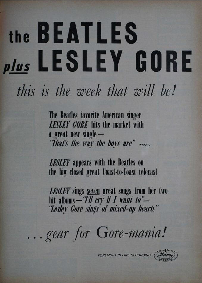 leslie gore and the beatles live poster