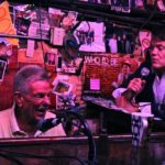 Rod Dibble at the keyboards with singer at the famous Alley piano bar in Oakland